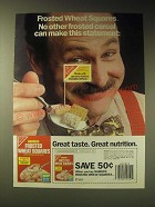 1989 Nabisco Frosted Wheat Squares Ad - This Statement