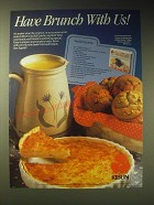 1989 Kibun SeaTails Ad - recipe for SeaTail Quiche - Have brunch with us