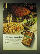 1989 Uncle Ben's Long Grain & Wild Rice Ad - Company's coming