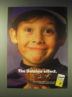 1989 Domino Sugar Ad - The domino effect - Boy