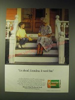 1989 Minute Maid Reduced Acid Frozen Concentrated Orange Juice Ad - Go ahead