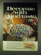 1989 M&M's Holidays Chocolates Ad - Decorate with good taste