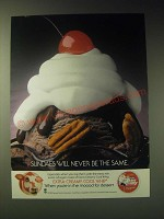 1989 Extra Creamy Cool Whip Ad - Sundaes will never be the same