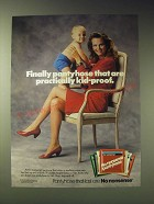 1989 No Nonsense Pantyhose Ad - Finally pantyhose that are practically kid-proof
