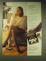 1989 Burlington Sheer Indulgence Pantyhose Ad - I went looking for peaches