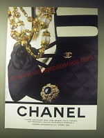 1989 Chanel Jewelry, Shoes and Handbags Ad