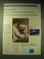 1989 Zeiss Axioskop 20 Microscope Ad - New convenience and Productivity
