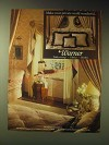 1989 Warner Wallcoverings Ad - Sidewall EPW-1134, Stripe EPW-1144