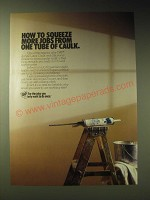 1989 Dap Acrylic Latex Caulk with Silicone Ad - How to squeeze more jobs