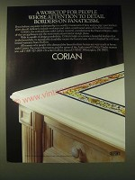 1989 Du Pont Corian Solid Surface Material Ad - A worktop for people