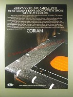 1989 Du Pont Corian Solid Surface Material Ad - Great cooks are among