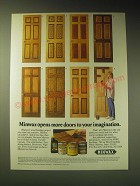 1989 Minwax Stains Ad - Minwax opens more doors to your imagination