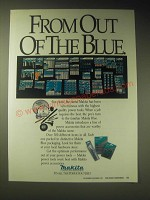 1989 Makita Power Accessories Ad - From out of the blue