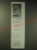 1989 Cashs of Ireland Waterford Angel Fish Ad