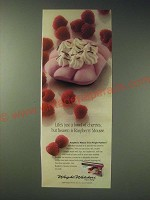 1989 Weight Watchers Raspberry Mousse Ad - Life's just a bowl of cherries