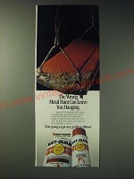 1989 Rust-Oleum Paint Ad - The wrong metal paint can leave you hanging