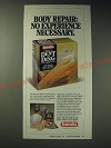 1989 Bondo Dent and Ding Kit Ad - Body repair: No experience necessary