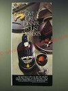 1989 Sandeman Founders Reserve Port Ad - Give a great dinner its just desserts