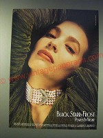 1989 Black, Starr & Frost Pearl Jewelry Ad - Pearls by Night