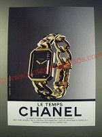 1989 Chanel Watch Ad Ad - Le Temps Chanel