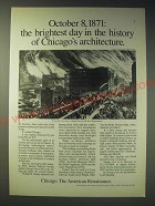 1989 Chicago Illinois Ad - October 8, 1871: the brightest day in the history