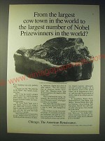 1989 Chicago Illinois Ad - From the largest cow town in the world