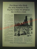 1989 Chicago illinois Ad - For those who think the new America is the Pacific