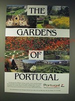 1989 Portugal Tourism Ad - The gardens of portugal