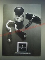 1989 Christofle Champagne Opener, Champagne Cork and Corkscrew Ad