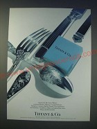 1989 Tiffany & Co. Flatware Ad - Hampton, Century, Shell & Thread, Audubon