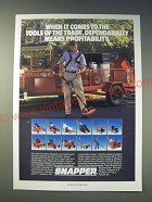 1989 Snapper Outdoor Power Equipment Ad - When it comes to the tools