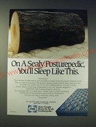 1989 Sealy Posturepedic Mattress Ad - On a Sealy posturepedic, you'll sleep