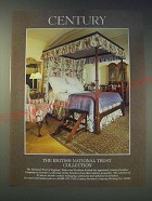 1989 Century British National Trust Collection Furniture Ad