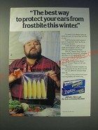 1989 Ziploc Freezer Bags Ad - Dom Deluise - The best way to protect