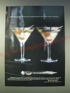 1989 Waterford Coleen Tall Cocktail Crystal Glass Ad