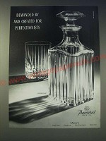 1989 Baccarat Harmonie Crystal Decanter and Glass Ad - Demanded by