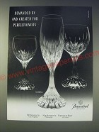 1989 Baccarat Massena Crystal Glasses Ad - Demanded by