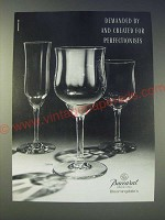 1989 Baccarat Capri Crystal Glasses Ad - Demanded by