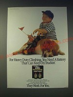 1989 Eveready Super Heavy Duty Batteries Ad - For Heavy Duty Climbing