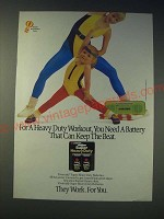 1989 Eveready Super Heavy Duty Batteries Ad - For a Heavy Duty Workout