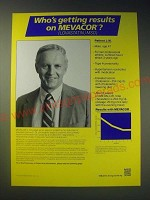1989 MSD Merck Sharp Dohme Mevacor Ad - Who's getting results on Mevacor?