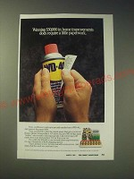 1989 WD-40 Oil Ad - Winning $30,000 in home improvements does require a little