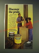 1989 Minwax Finish Ad - Discover the pride