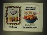1989 Ralston Fruit Muesli Cereal Ad - Date around There's Muesli with our fruit