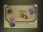 1989 Bausch & Lomb Moisture Drops Ad - Get the drop on dry eyes