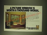1989 Marvin Windows Ad - A picture window is worth a thousand words