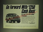 1989 Chevy S-10 Blazer Ad - Go forward with $1250 cash back