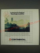 1989 Continental Airlines Ad - Continental's England. Hauntingly beautiful