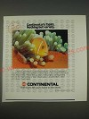 1989 Continental Airlines Ad - Continental's Tahiti. Nothing but variety