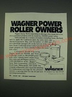 1989 Wagner Spray Tech Corporation Ad - Wagner Power Roller Owners